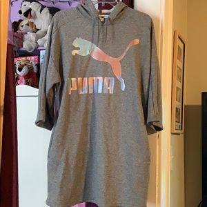 Xs oversized puma hoodie dress